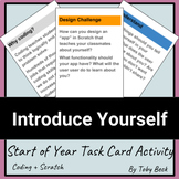 STEM, Scratch, Design Cycle: Start of Year Activity - Intr