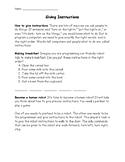 Coding Worksheet