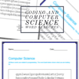Coding and Computer Science Word Searches