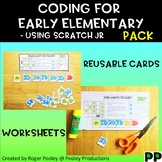 Coding for Juniors PACK –Using Scratch Jr, notes, answer key, 21pgs, BEST SELLER