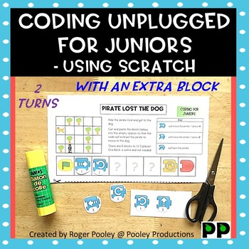 Coding for Juniors -Using Scratch Jr, making turns, 1 block too many Challenge