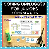 Coding Unplugged for Early Elementary -Using Scratch Jr, 2 turns, an extra block