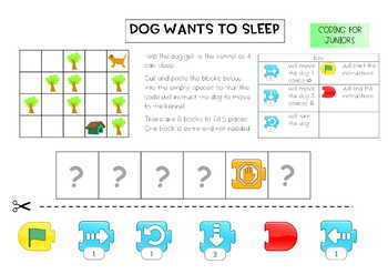 Coding for Juniors - Using Scratch Jr, with 1 block too many Challenge