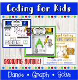 Math and Coding games and activities for kids bundle