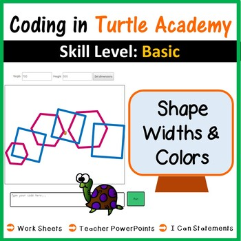 Coding in Turtle Academy: Types of Triangles & Angles (Maths)