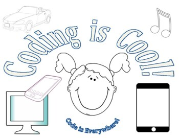 Coding is Cool Coloring sheet for Hour of Code week!