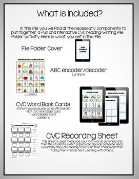 Coding the Alphabet ~ Short Vowel CVC File Folder Activity