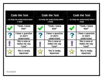 Coding the Text!  Great for Close Reading