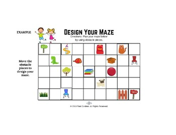 Coding the Way Maze - Unplugged Coding Activity