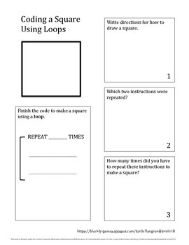 Coding with Loops - Square