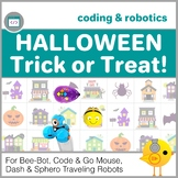 Coding with Robots - Halloween Trick or Treat  for Bee-Bot, Code & Go Mouse, etc