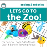 Coding with Robots - Let's Go to the Zoo! - for Bee-Bot, Code & Go Mouse, Dash