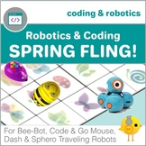Coding with Robots - Spring Fling! - for Bee-Bot, Code & Go Mouse, Dash