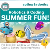 Coding with Robots - Summer Fun! - for Bee-Bot, Code & Go Mouse, Dash, Sphero