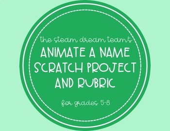 Coding with Scratch: animate a name project