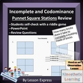 Codominance and Incomplete Dominance Review Stations -- Self Check Riddle Game