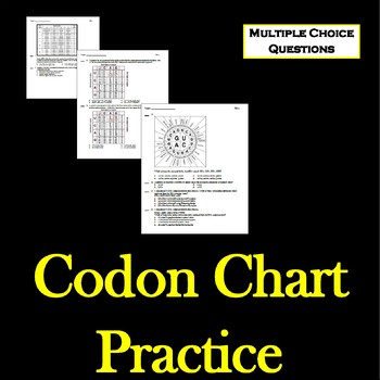 Codon Chart Worksheets & Teaching Resources | Teachers Pay Teachers