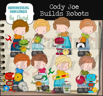Cody Joe Builds Robots Clipart Collection