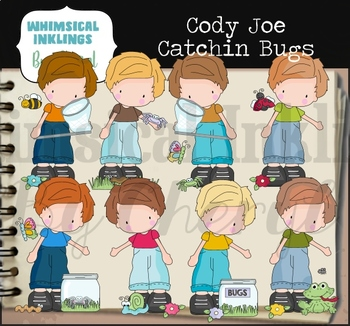 Cody Joe Catching Bugs Clipart Collection