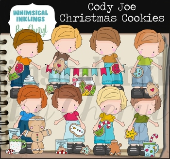 Cody Joe Christmas Cookies Clipart Collection