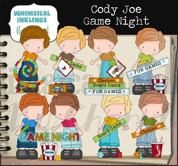 Cody Joe Game Night Clipart Collection