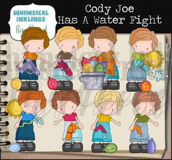 Cody Joe Has a Water Fight Clipart Collection