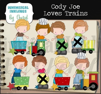 Cody Joe Loves Trains Clipart Collection