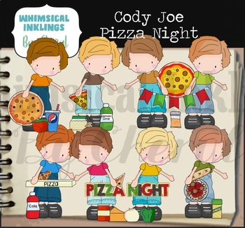 Cody Joe Pizza Night Clipart Collection