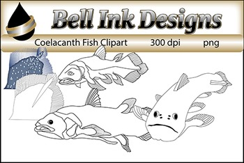 Coelacanth Fish Clipart