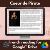 Coeur de Pirate -  reading for French learners for Google Drive