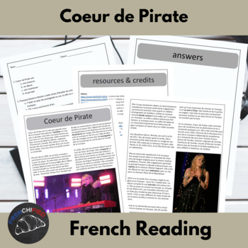 Coeur de Pirate - reading for intermediate/advanced French learners