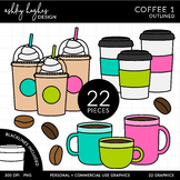 Coffee 1 Clipart - Outlined - [Ashley Hughes Design]