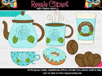 Coffee And Donuts 3 ClipArt - Commercial Use