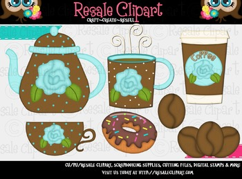 Coffee And Donuts 4 ClipArt - Commercial Use