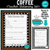 Coffee Back to School Stationary Set & Classroom Forms