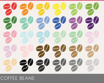 Coffee Beans Digital Clipart, Coffee Beans Graphics, Coffe