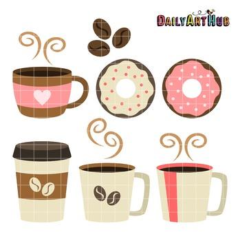 Coffee Break Clip Art - Great for Art Class Projects!