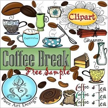 {PAEZ ART DESIGN} FREEBIES! Coffee Break Clipart SAMPLE!