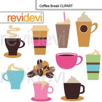 Coffee Break Digital Clip art
