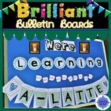 Coffee Shop Bulletin Board-Editable Learning A Latte Starbucks Decor