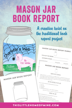 Coffee Can/Soup Can Elementary Reading Book Report Project - Rubric Included