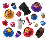 Coffee Clip Art - Expresso Mugs Digital Graphics