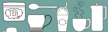 SALE- Coffee Clipart for Commercial Use, teachers, coffee drawings