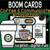 Coffee & Communicate -  BOOM Cards Distance Learning - B (
