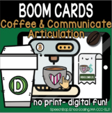 Coffee & Communicate -  BOOM Cards Distance Learning - D (
