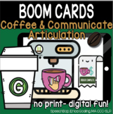 Coffee & Communicate -  BOOM Cards Distance Learning - G (