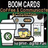Coffee & Communicate -  BOOM Cards Distance Learning - K (