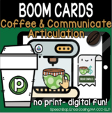 Coffee & Communicate -  BOOM Cards Distance Learning - P (