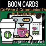 Coffee & Communicate -  BOOM Cards Distance Learning - T (