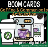 Coffee & Communicate -  BOOM Cards Distance Learning - V (